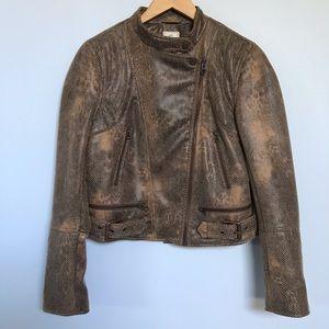 Free People We the Free Vegan Leather Moto Jacket